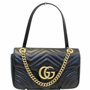 GUCCI GG Marmont  Matelasse Leather Crossbody Bag